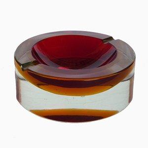 Italienischer vintage Murano Glas Aschenbecher von Flavio Poli für Seguso