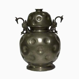 Art Deco Pewter Lidded Vase, 1930s