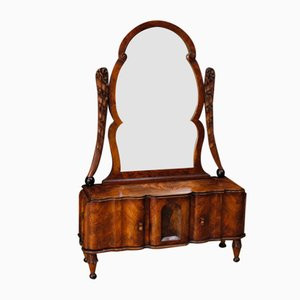 Dressing Table with Cheval Mirror in Walnut, 1950s