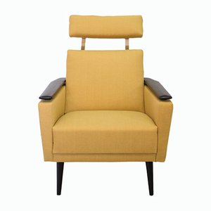 Mid-Century Scandinavian Armchair with Headrest, 1970s