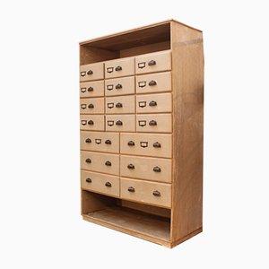 Vintage Industrial Wooden Storage Cabinet