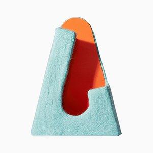 Agari Vase in Hellblau und Orange von Piloh
