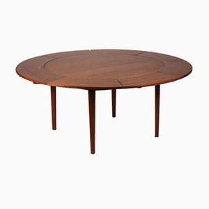 Mid-Century Teak Flip-Flap Dining Table from Dyrlund, 1950s