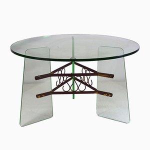 Vintage Italian Table Basse avec Tripod Base, 1940s