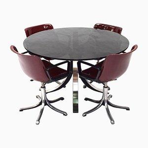 Tavolo e sedie da pranzo T69 di Osvaldo Borsani per Tecno Dining Set, 1964