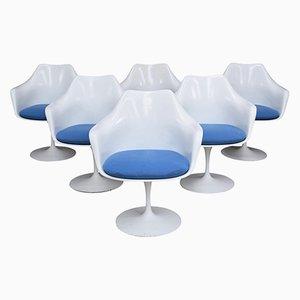 Sillas Tulip estadounidenses vintage de Eero Saarinen para Knoll. Juego de 6