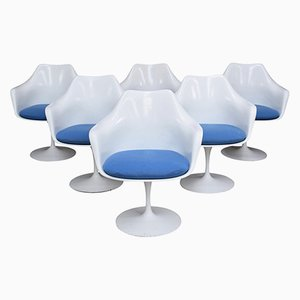 Vintage American Tulip Chairs by Eero Saarinen for Knoll, Set of 6