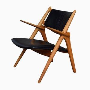 Modell CH28 Sawbuck Chair von Hans J. Wegner für Carl Hansen & Søn, 1950er