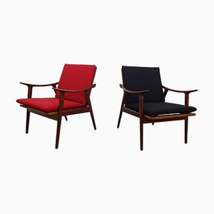 Model 563 Teak Armchairs by Fredrik Kayser for Vatne Møbler, 1950s, Set of 2