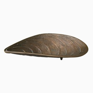Bronze Mussel-Shaped Bowl, 1960s