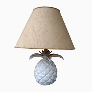 Vintage Italian Table Lamp with Ceramic Pineapple Base