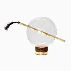 Lampe de Bureau Globo en Laiton Poli de Silvio Mondino Studio