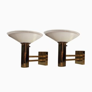 Vintage Scandinavian Maritime Brass Sconces, 1960s, Set of 2