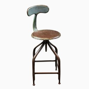 Vintage Industrial Workshop Stool from Chaises Nicolle