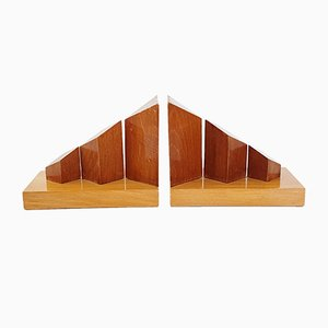 Mid-Century French Wood Bookends, 1950s, Set of 2