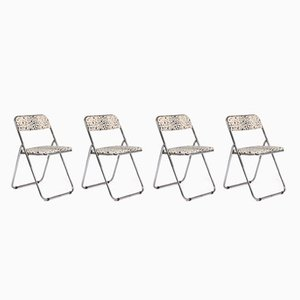 Chaises Pliables en Chrome, 1960s, Set de 4