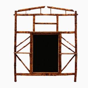 Espejo de repisa de bambú, siglo XIX