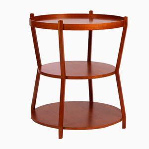 Runder Mid-Century Kirschholz Tisch