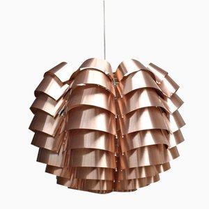 Lámpara colgante Orion con acabado de cobre de Max Sauze para Max Sauze Studio, años 70