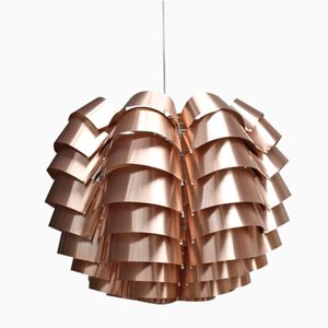 Orion Pendant Lamp with Copper Finish by Max Sauze for Max Sauze Studio, 1970s