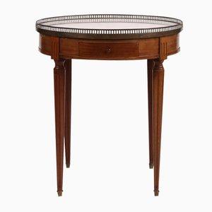 Table Style Bouillote Antique en Acajou