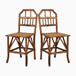 Victorian Bamboo Side Chairs, Set of 2