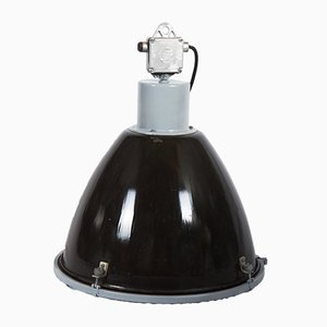 Industrial Enameled Steel Pendant Lamp, 1970s