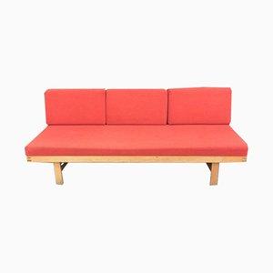 Sofá cama francés de pino, años 60