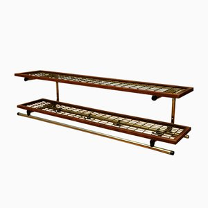 Swedish Teak & Metal Shelf or Clothes Rack from Isaaksons, 1921