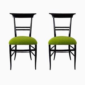 Italienische Stühle, 1940er, 2er Set