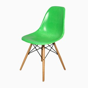 Model DSW Fiberglass Green Side Chair by Charles & Ray Eames for Herman Miller, 1950s