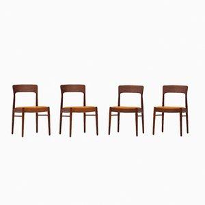 Chaises de Salon par Kai Kristiansen pour Korup, Danemark, 1960s, set de 4