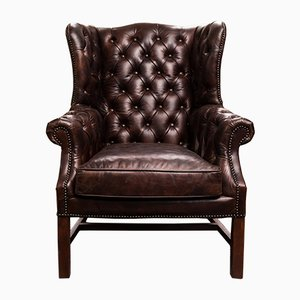 Chaise à Orreille Vintage en Cuir