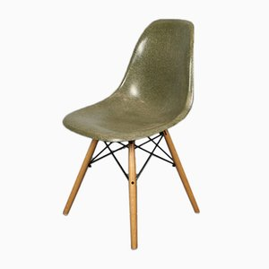 Vintage Forest Green DSW Chair by Charles & Ray Eames for Herman Miller