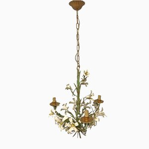 Lustre Bouquet de Fleur Tôle Vintage
