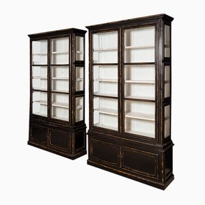 Vintage Ebonised Display Cabinet