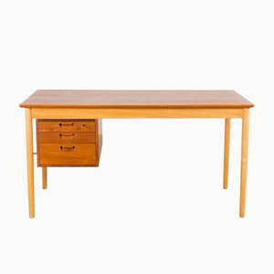 Vintage Teak and Oak Writing Desk