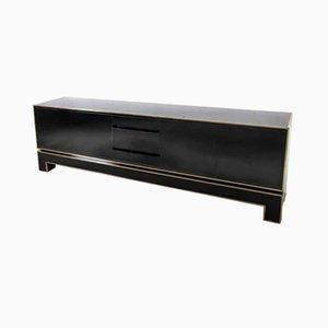 Credenza Regency de bronce y lacado negro de Alain Delon para Maison Jansen