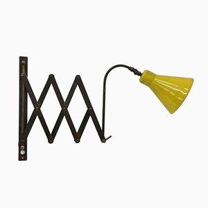 Lámpara de acordeón italiana Mid-Century Modern, años 50