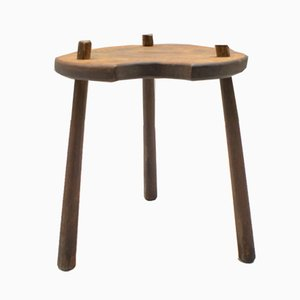 French Wooden Stool, 1940s