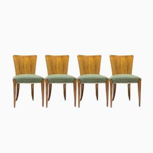 Vintage Esszimmerstühle von Jind?ich Halabala für UP Zavody, 4er Set