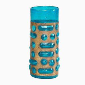 Biot Vase aus Glas & Messing von Verrerie de Biot, 1960er
