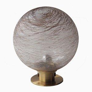 Lámpara de mesa esférica de vidrio, años 70