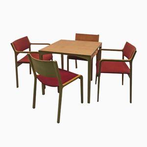 Tavolo e sedie da gioco di Wilhelm Ritz per Wilkhahn, anni '60