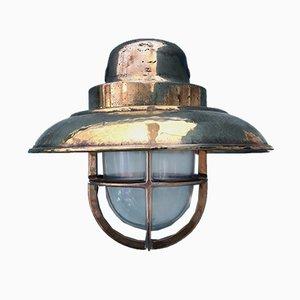 Industrielle vintage Wandlampe von Wiska