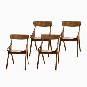 Dining Chairs by Arne Hovmand Olsen for Mogens Kold, Set of 4, 1950s
