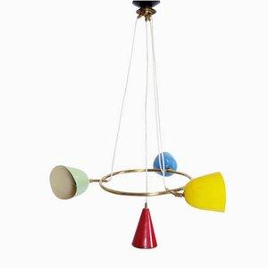 Lampe à Suspension Multicolore, 1950s
