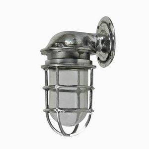 Lámpara de pared de aluminio de Oceanic, años 50