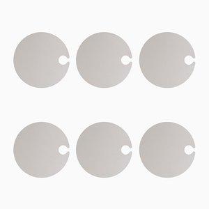 Assiettes Giotto Rondes en Céramique par Tiziana Vittoni Pairazzi pour Paira, Set de 6