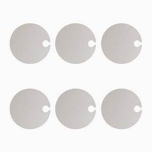 Giotto Round Ceramic Buffet Plates by Tiziana Vittoni Pairazzi for Paira, Set of 6